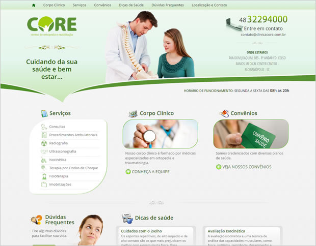Website Clínica Core