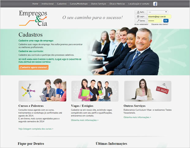 Website Empregos e Cia.