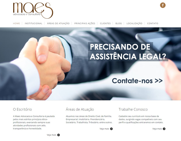 Website Maes Advocacia